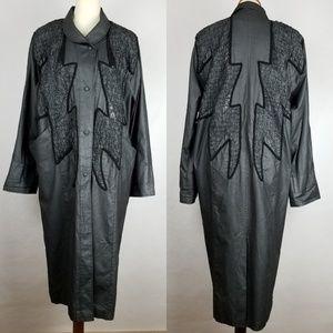 Vintage 80s Designer Lighting Bolt Trench Coat